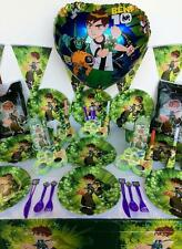 BEN 10 PARTY SUPPLIES BOYS BIRTHDAY PARTY PACK 103 Pcs Perfect for 10 Guests