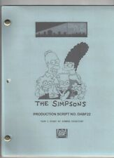 "THE SIMPSONS show script ""How I Spent My Summer Vacation"""