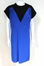 New Balenciaga Black Blue Dress F38 uk 10