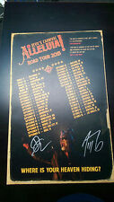 ALLELUIA The Devil's Carnival Movie Tour Poster Signed D.L. Bousman & T. Zdunich