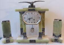 Antico orologio a pendolo /da tavolo con laterali- marmo  - funzionante Art Deco