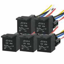 New 5pcs 12V 40Amp Relay Wire Harness Socket SPDT 5Pin Automotive Car Relays Kit