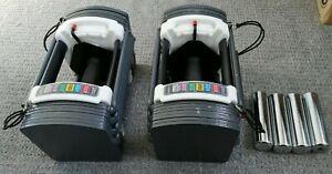 Pair of PowerBlock Sport 9.0 Quick Changing Adjustable Dumbbells 2 X 22.5kg