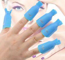 10x Plastic Nail Art Soak Off Reuseable Clip Cap UV Gel Polish Remover Tool