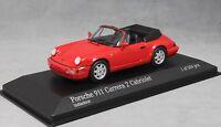 Minichamps Porsche 911 964 Carrera 2 Cabriolet in Red 1990 430067330 Ltd Ed 504