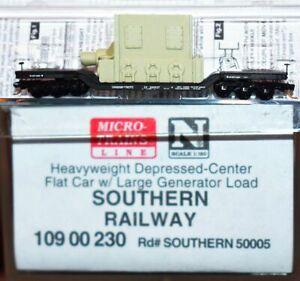 Southern Railway 50005 Flat Car w/ Load MicroTrains 10900230 N Scale JA19.12