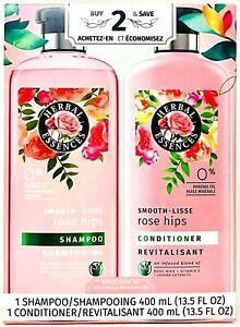 Herbal Essences 13.5 Oz Smooth Rose Hips Infused Blend Shampoo & Conditioner Set