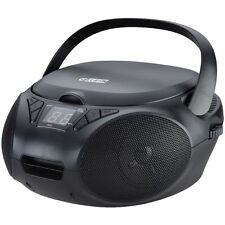 Boombox Portable CD Player with FM Radio AM Noir