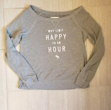 Abercrombie and Fitch Why Limit Happy to an Hour Gray Shirt Womens Large