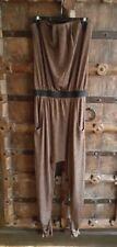 TopShop 70s inspired copper brown sparkle strapless harem  jumpsuit 4 UK 8