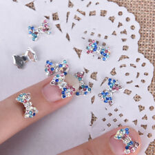5X 3D Alloy Nail Art Decoration Bow Knot Glitter Rhinestones Manicure Jewelry。