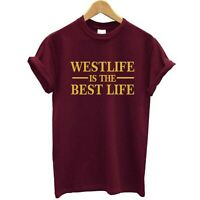 New Westlife is the Best Life Gold Print Adult's Kid's Tshirt Free UK Postage