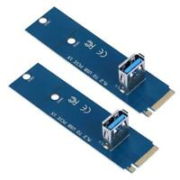 2pcs M.2/NGFF to USB3.0 PCI-E X16 Converter Adapter Mining Graphic Card #G