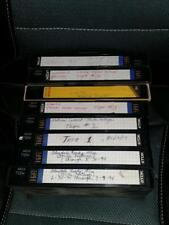 8 Homemade VHS Tapes of 1994 Strikes Ready Mix Wagnild O'Leary National Cement