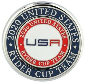 2020/2021 RYDER CUP Whistling Straits TEAM USA DUO BALL MARKER w/Removable Mark