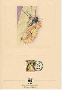 ENCART WWF  FDC  PORT MORESBY PNG  PAPILLON  NEW GUINEA  1988