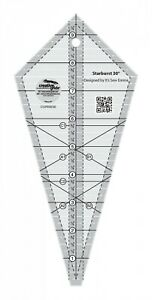US Seller) Creative Grids Starburst 30 Degree Triangle Quilt 9-1/2in Ruler ISE30