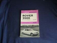 Rover 2000 SC TC & Automatic From 1963  Motor Manual