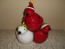 Oneida FROSTY FEATHERS Cookie Jar Christmas Red Birds