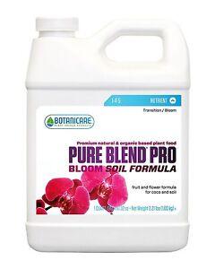 Botanicare Pure Blend Pro Bloom Soil QUART Liquid Plant Nutrients Free Ship!