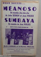 ) partition MEANOSO - SUMBAYA - orchestre - Jean Poujex