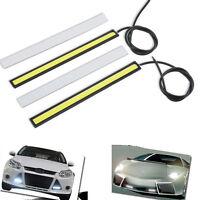 2PCS Waterproof Car White LED COB Lights Ultra thin DRL Fog Driving Lamp DC 12V