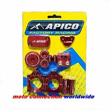 APICO ANODIZED BLING ALLOY PARTS PACK RED HONDA CRF250 04-09 CRF450 04-08   HON1