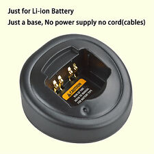 Base no power supply for Motorola GP340 Walkie Talkie Li-ion Battery Charger