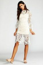 Free People Floral Crochet Lace La Spezia Dress White New Wedding Sz Xs