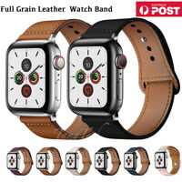 【Genuine Leather】For Apple Watch iWatch Band Strap Series 5 4 3 21 38 42 40 44mm