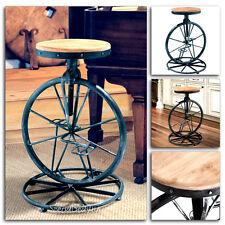 Swivel Chair Stool Modern Bar Wood Metal adjustable Seat Set Vintage Barstool