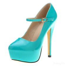 Ladies Platform High Heel Ankle Strap Stage Nightclub Shoes Pump Candy NEW New
