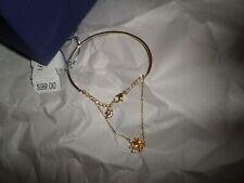 Swarovski Gold Pink Bangle Crystal Bracelet NIB