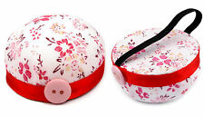 Floral Wrist Pin Cushion Ø 60mm Sewing Tool Needle Pins Holder
