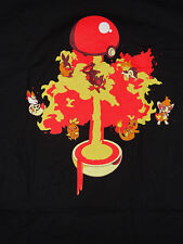 BRAND NEW QWERTEE LAVABALL BLACK T-SHIRT size XL fire pokemon go