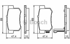 4x BOSCH Plaquettes de frein Arrière pour HONDA FR-V SUZUKI SWIFT 0 986 461 006