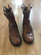Frye Paige Short Riding Boots Tan Brown Women's Size 6