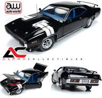 AUTOWORLD AMM1133 1:18 1971 PLYMOUTH GTX BLACK LTD 1002 PCS