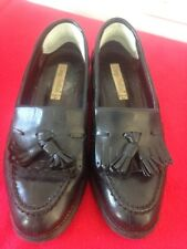 Diego Bellini Ladies Black Leather Loafer Style Shoes Size 38