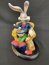 "New ListingVintage 1994 Rare Bugs Bunny Resin Statue Warner Bros LooneyTunes ""Couch Potato"""
