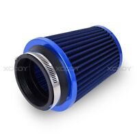 """3"""" BLUE INLET HIGH FLOW SHORT RAM/COLD INTAKE ROUND CONE MESH AIR FILTER 3 INCH"""