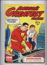 Americas Greatest #7 Captain marvel Flashback Golden Age Comic Reprint  Fanzine
