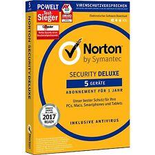 Symantec Norton Security Deluxe - 5 Geräte - Abo für 1 Jahr - Box mit Keycard