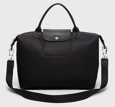 NWT Longchamp Le Pliage Neo Medium Travel Crossbody Satchel Bag BLACK $245+ AUTH