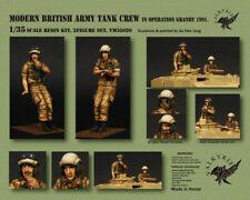 Valkyrie 1/35 Escala Kit de modelo de resina moderna British Army Tank Crew Granby 1991