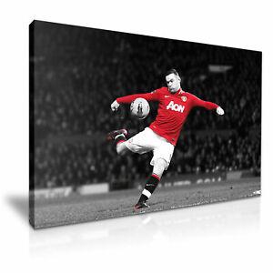 WAYNE ROONEY Man United Footballer Goal Canvas Modern Home Art Print ~ 5 Size