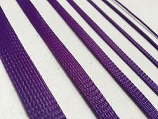 Purple Braided Sleeving Cable Harness Sheathing Expanding Sleeve Many sizes!