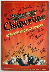 Cast Beth Leavel, Jonathan Crombie Signed DROWSY CHAPERONE Broadway Poster