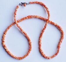 collier bijou vintage perle de corail couleur filigrane couleur argent *3312