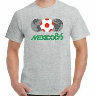 Mexico 86 T-Shirt Mens Retro 1986 World Cup Football Retro Top Logo Kit England